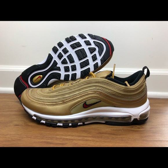 promo code 21b38 a0e5f Nike Air Max 97 OG QS Metallic Gold Men Size 12 NWT